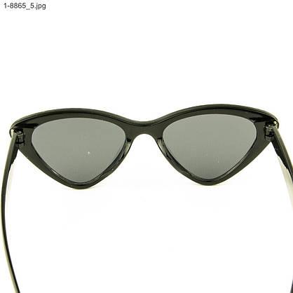 Модные очки кошачий глаз - Черные со стразами (имитация) - 1-8865, фото 3