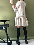 Женское стильное льняное платье-трапеция с рюшами (в расцветках), фото 2