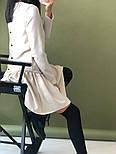 Женское стильное льняное платье-трапеция с рюшами (в расцветках), фото 3