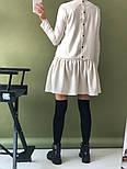 Женское стильное льняное платье-трапеция с рюшами (в расцветках), фото 4