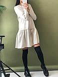 Женское стильное льняное платье-трапеция с рюшами (в расцветках), фото 5