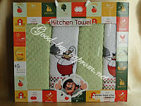 Набор кухонных полотенец Gulcan Kitchen Towel 4шт: 40x60 / хлопок / махра / Турция