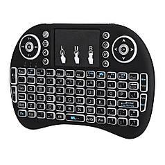 Беспроводная клавиатура с белой подсветкой Noisy Black English Language (50227_my)