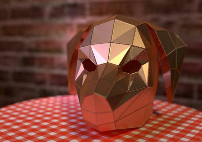 Papercraft Маска собаки