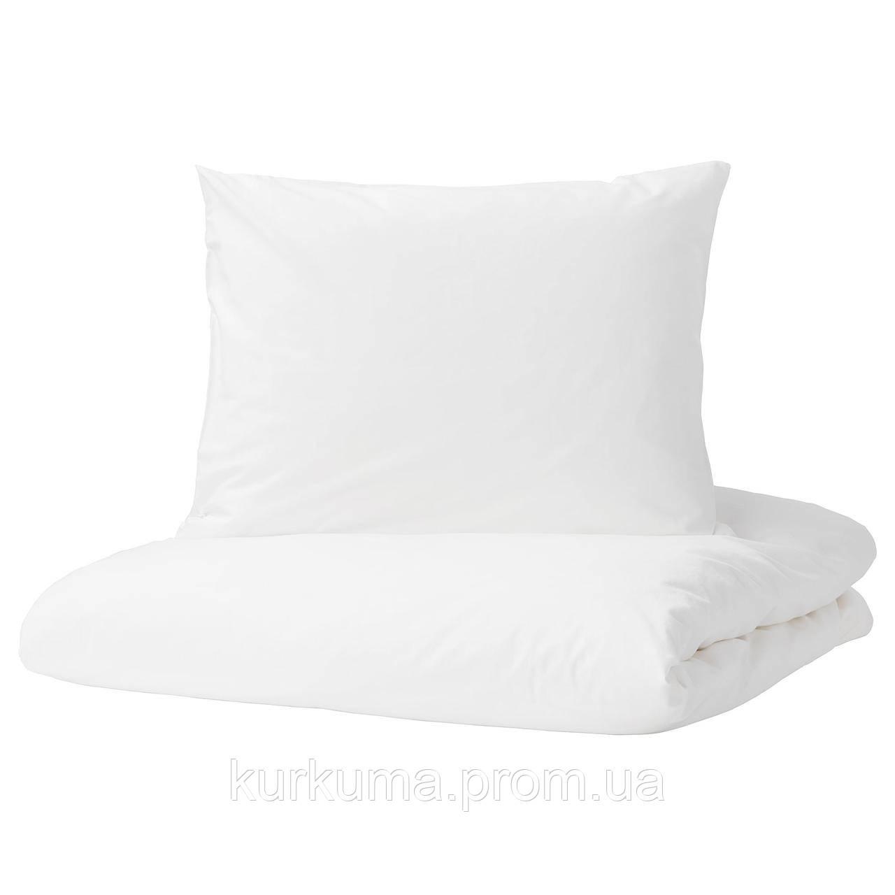 IKEA DVALA Комплект постельного белья, белый  (203.779.59)