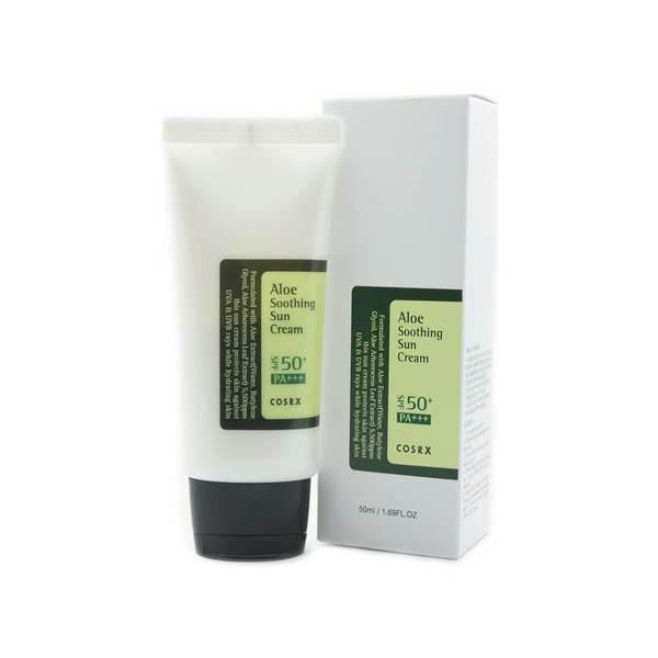 Солцнезащитные крем с алоэ COSRX Aloe Soothing Sun Cream SPF50+ PA+++