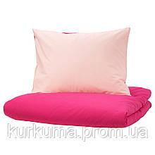 IKEA DVALA Комплект постельного белья, розовый  (003.775.02)