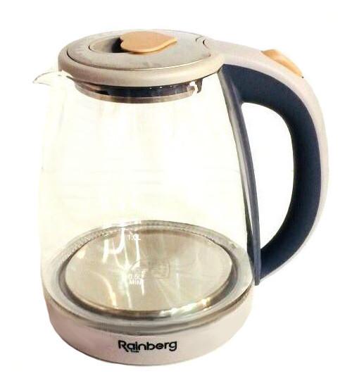 Чайник стекло 1.8л RAINBERG RB-902 2200 Вт электрический чайник стеклянный чайник