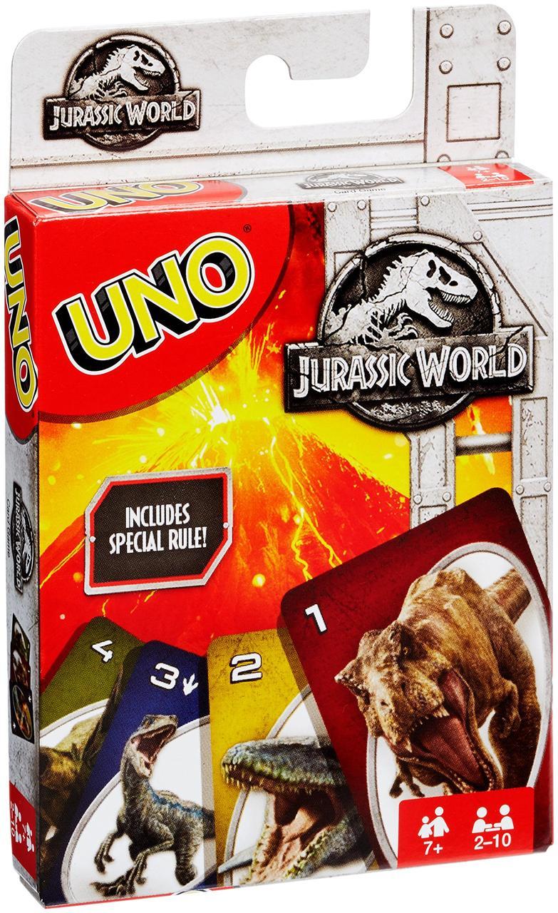Карточная игра Mattel UNO Парк Юрского периода (887961560510) (FLK66)