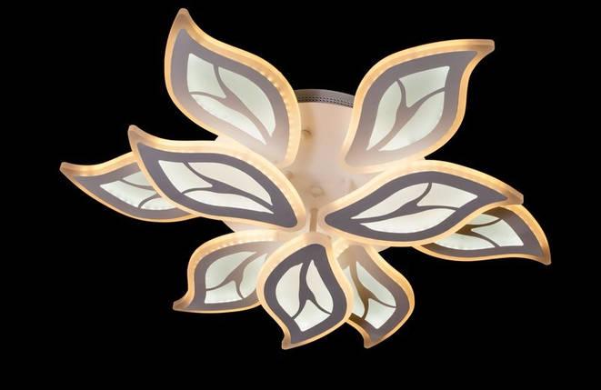 Светодиодная припотолочная люстра с LED подсветкой и пультом. Площадь освещения 14-20 кв.м8888/6+3 LED, фото 2