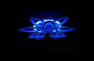 Светодиодная припотолочная люстра с диммером. Площадь освещения 15-20 кв.м8889/6+3 LED Dimmer, фото 3