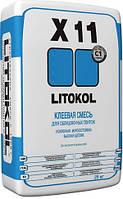Усиленный плиточный клей Литокол Х11 серого цвета для наружных и внутренних работ