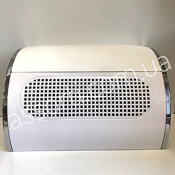 Вытяжка для маникюра белая, 45 ватт (три вентилятора)