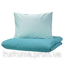 IKEA DVALA Комплект постельного белья, синий  (603.775.56)
