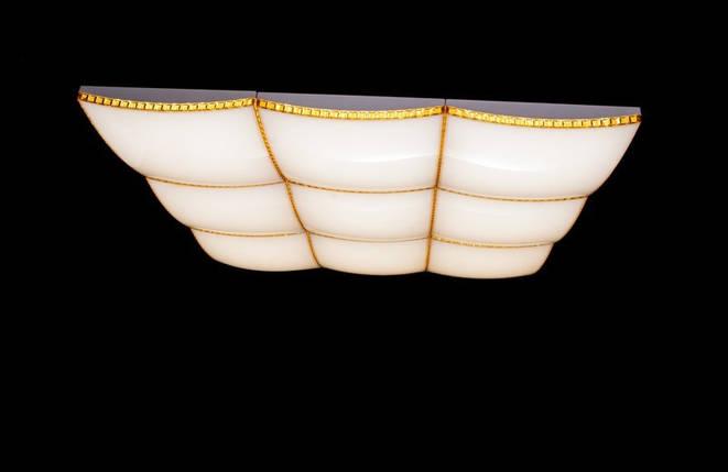 Современная большая потолочная светодиодная люстра с поочередным включением трех режимов и плавным пуском. Площадь освещения 18-25 кв.м889-9-13, фото 2