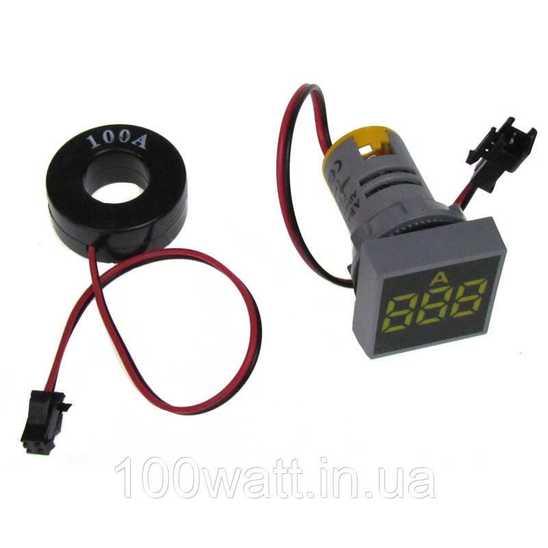 Индикатор амперметра желтый 100А ST897 Y