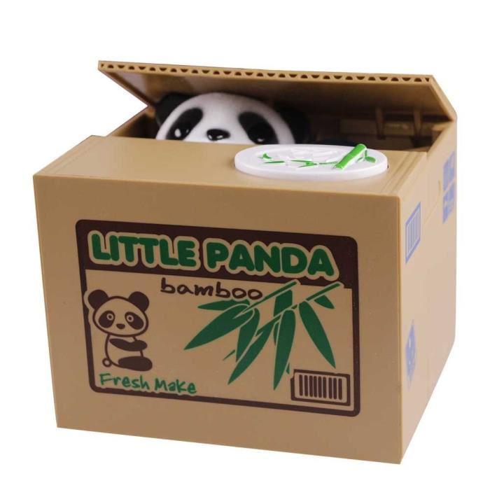 ✅ Копилка-воришка Панда на батарейках Mischief Bank, Little Panda, с доставкой по Киеву, Украине, Копилки, скарбнички