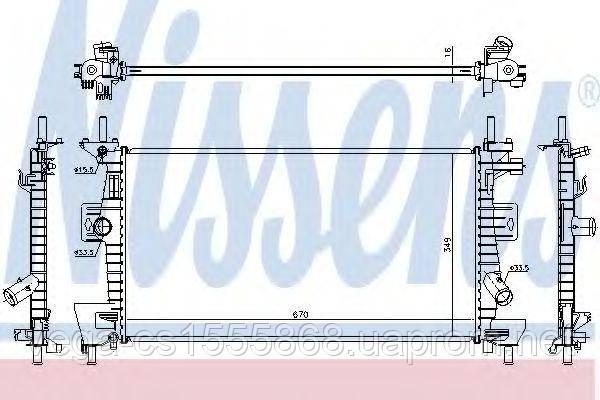 Радиатор охлаждения двигателя Nissens 69237 на Ford C-MAX / Форд C-MAX
