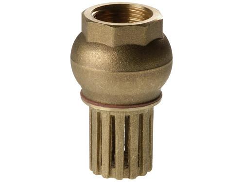 """Обратный клапан 1 1/4"""" с фильтром грубой очистки REMER"""