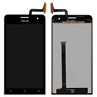 Дисплейный модуль (экран и сенсор) для Asus ZenFone 5 (A500KL, A500CG), черный, оригинал