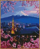 Алмазная вышивка  40×50 см. Йокогама и гора Фудзияма (ST-1112), фото 1