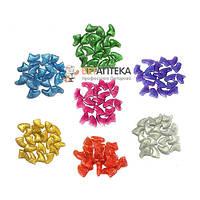 Колпачки для когтей Коготки L свыше 6 кг с кристаллами люминесцентные разноцветные