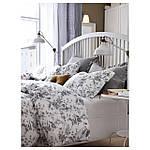 IKEA ALVINEKVIST Комплект постельного белья, белый, серый  (101.596.31), фото 7