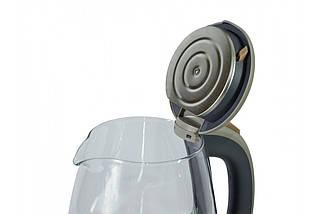 Электрический чайник RAINBERG RB 998 стеклянный чайник с рисунком на корпусе , фото 2