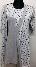 Комплект женский D&C fashion, халат / ночная сорочка. 0347