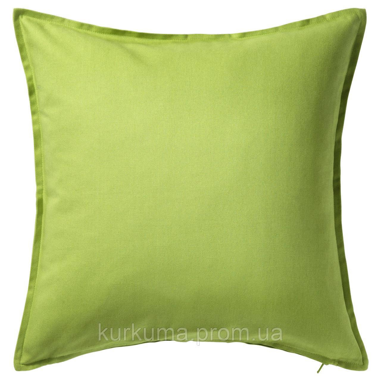 IKEA GURLI Наволочка на декоративную подушку, зеленый  (002.811.42)