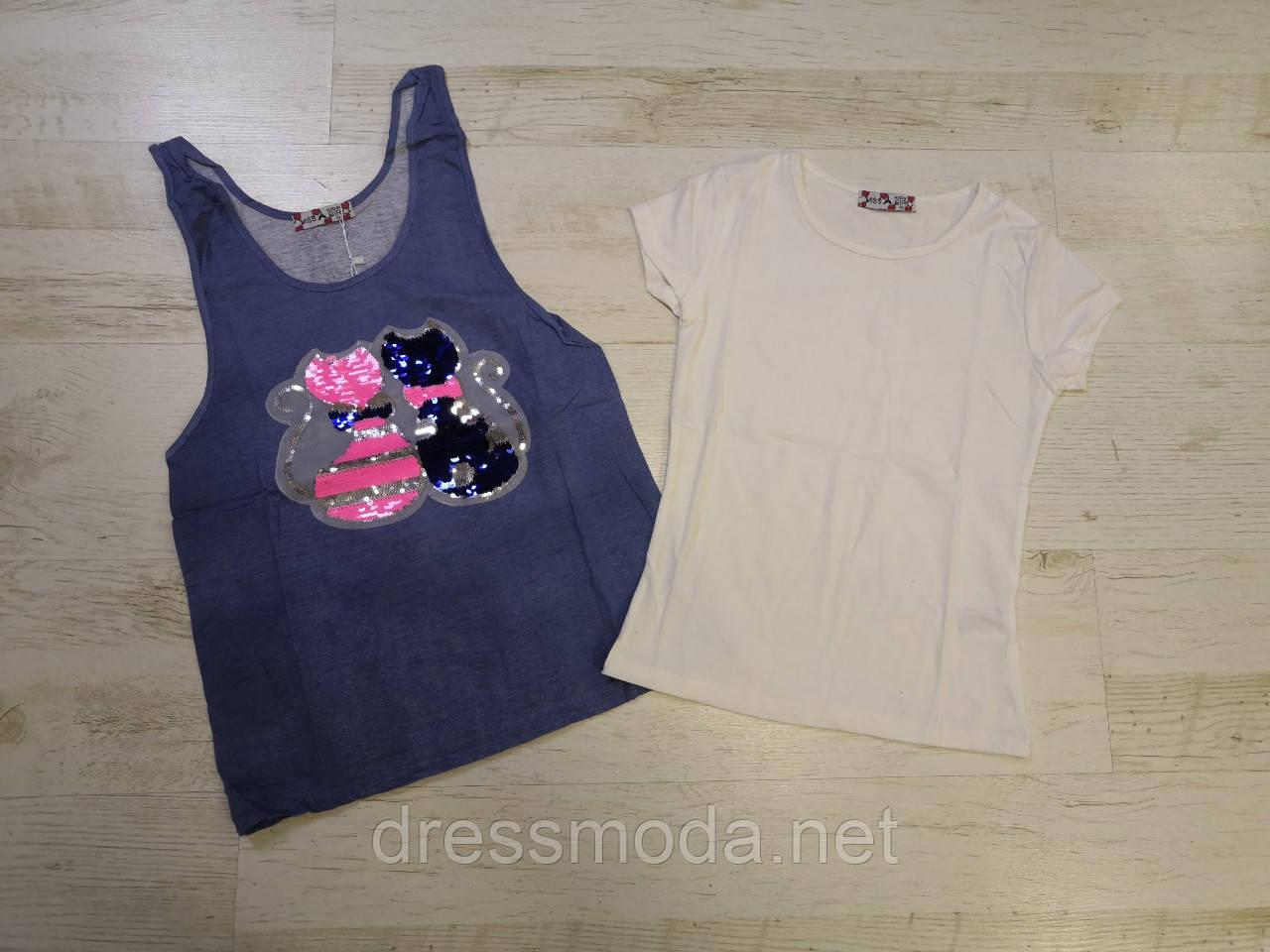 Набор футболка-майка для девочек Miss Girl 6-14 лет