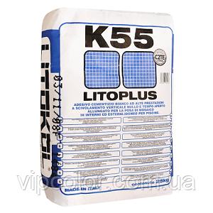 Litokol белый эластичный клей для мозаики Литоплюс К55 20 кг