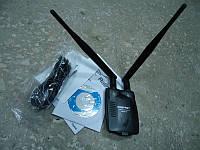 Мощный wi-fi USB адаптер 300 мбит двойная антенна до 1 км.