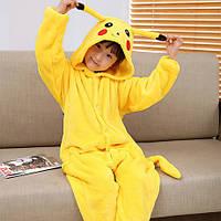 Пижама Кигуруми Пикачу микрофибра (велсофт) детский