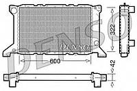 Радиатор охлаждения двигателя Denso DRM10098 на Ford Transit / Форд Транзит
