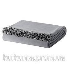 IKEA SKELORT Плед, серый  (603.420.86)
