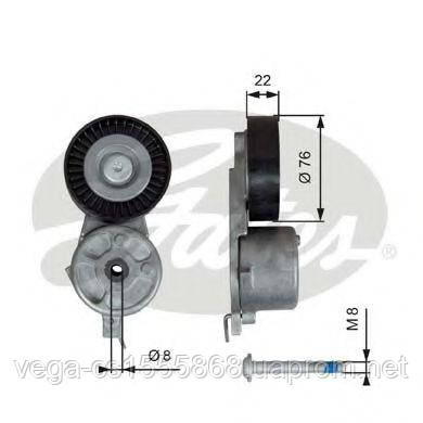 Натяжной ролик поликлинового ремня Gates T39141 на Ford S-MAX / Форд С-Макс
