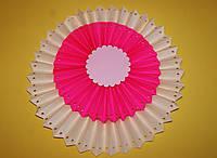Бумажный веерный круг двойной с деко дырочками.  Размер 50 см