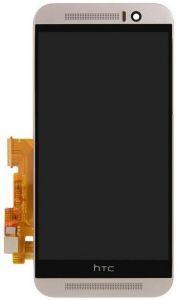 Дисплей с тачскрином HTC One M9 черный в рамке серого цвета