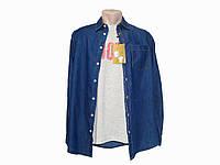 Мужской комплект (джинсовая рубашка + футболка) Piazza Italia