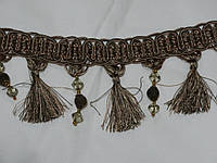 Тесьма декоративная для штор оливка