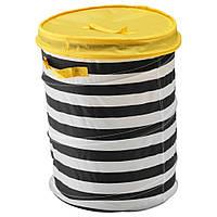 IKEA FLYTTBAR Корзина c крышкой, желтый (803.288.24)