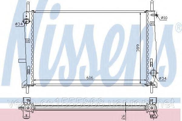 Радиатор охлаждения двигателя Nissens 62056A на Ford Mondeo / Форд Мондео