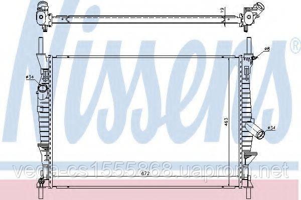 Радиатор охлаждения двигателя Nissens 69240 на Ford Transit / Форд Транзит