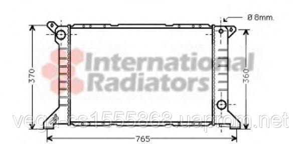 Радиатор охлаждения двигателя Van Wezel 18002203 на Ford Transit / Форд Транзит