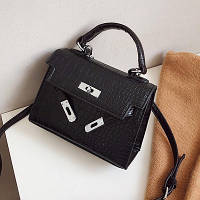 Маленькая женская сумка Kelly Reptile черная