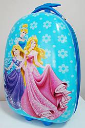 """Детский чемодан пластиковый """"Принцессы"""" на 2 колесах 16"""" 0378-3-1301"""
