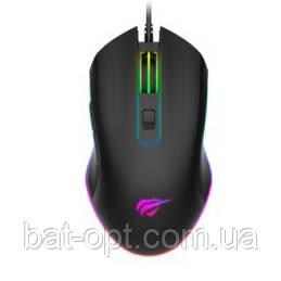 Мышь проводная игровая Havit HV-MS804 USB с подсветкой, черный