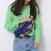 Сумка беговая поясная унисекс crossbody бананка на пояс через плечо рисунок 3 цвета