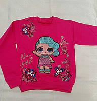 Реглан с светящейся куклой Lol для девочек 110-116-122-128 роста Малинка, фото 1